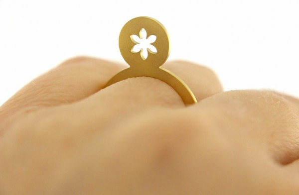 Symbolring Blume