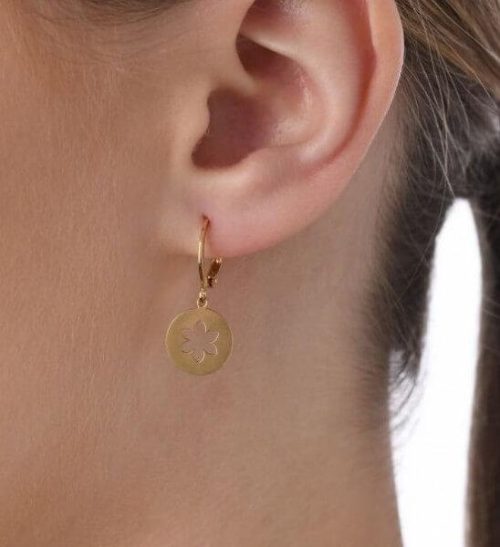 Ohrhänger Blume - Edelweiss