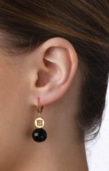 Ohrhänger YES mit Edelstein