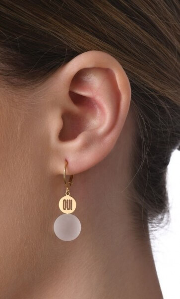 Ohrhänger OUI mit Edelstein