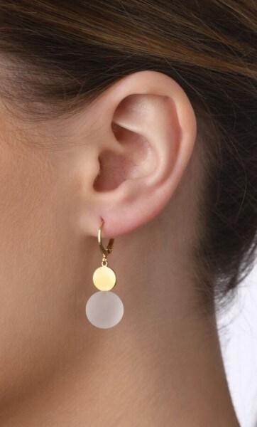 Ohrhänger Pur mit Edelstein
