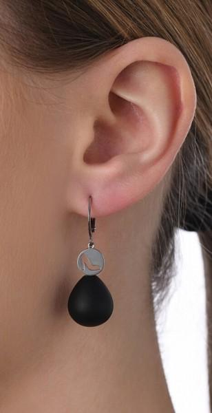 Ohrhänger Pumps mit Edelstein
