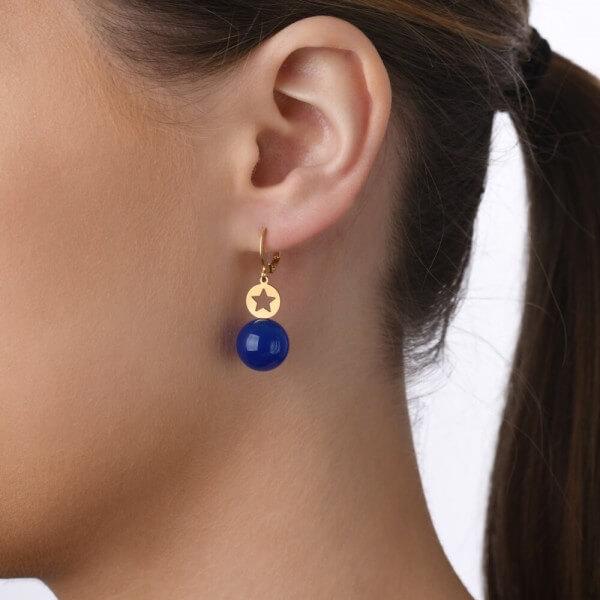 veduta-ohrhaenger-stern-edelstahl-vergoldet-blauachat-schmuck-geburt-weihnachten-geschenk